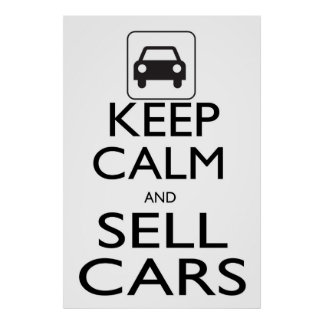 Mantenha carros calmos e da venda poster