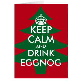 Mantenha cartão calmo e da bebida da gemada do