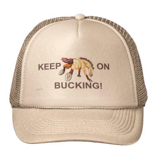 Mantenha em Bucking! Chapéu do cavalo Bonés