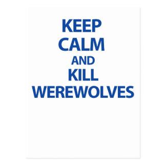 Mantenha homens-lobo calmos e do matar cartão postal