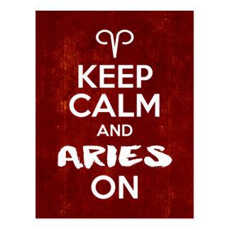 Mantenha o Aries calmo na astrologia do Cartão Postal
