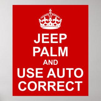 Mantenha o auto poster engraçado correto calmo