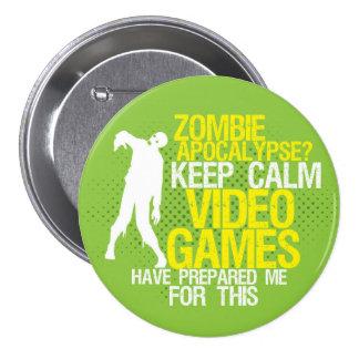 Mantenha o botão engraçado do jogo do apocalipse bóton redondo 7.62cm