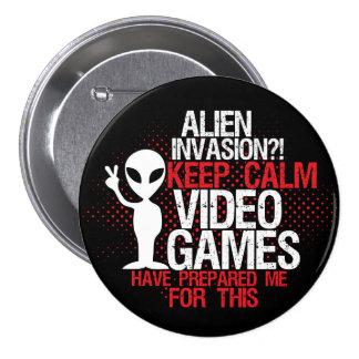 Mantenha o botão engraçado dos Gamers da invasão Bóton Redondo 7.62cm