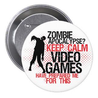 Mantenha o botão engraçado dos Gamers do Bóton Redondo 7.62cm