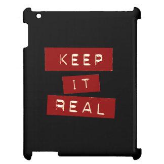 Mantenha-o capa de ipad real