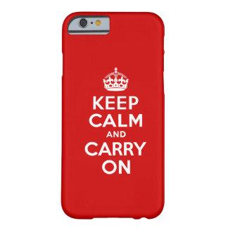 Mantenha o caso calmo do iPhone 6 Capa Barely There Para iPhone 6