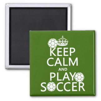 Mantenha o futebol da calma e do jogo (alguma cor) imas