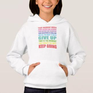 Mantenha o Hoodie irlandês indo das meninas da Camiseta