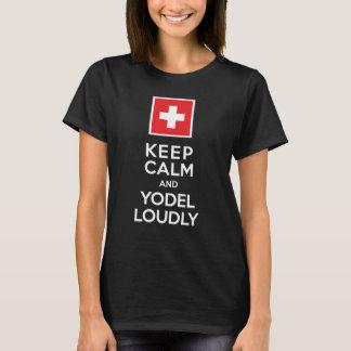 Mantenha o humor suíço da calma e do Yodel alta Tshirts