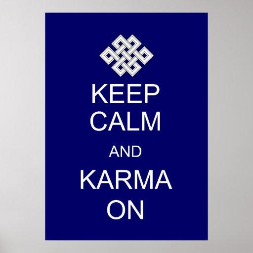 Mantenha o poster calmo das karmas pôster