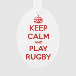 Mantenha o rugby da calma e do jogo