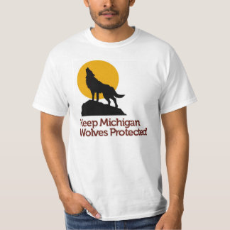 Mantenha o t-shirt protegido lobos de Michigan