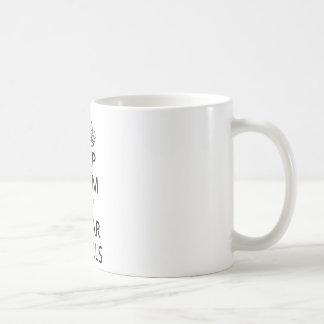 Mantenha palavras Quot CALMAS e do DESGASTE das Caneca De Café