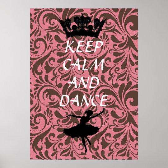 mantenha poster calmo e da dança do balé