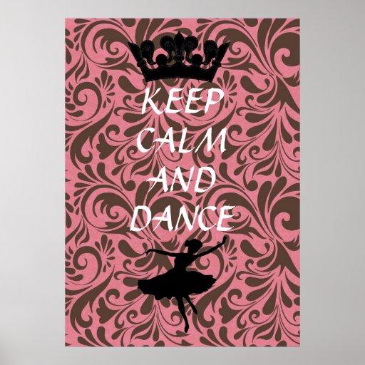 mantenha poster calmo e da dança do balé pôster