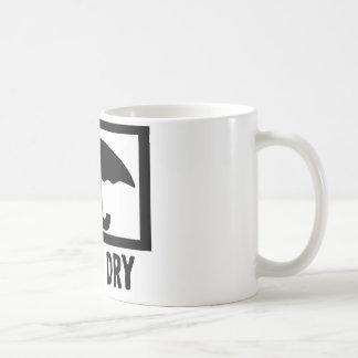 Mantenha seco caneca de café