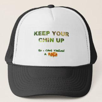 Mantenha seu Chin acima… Assim eu posso jogar um Boné