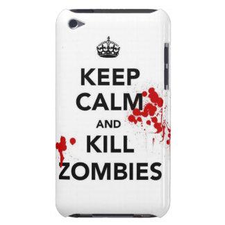 mantenha zombis calmos e do matar capa para iPod touch
