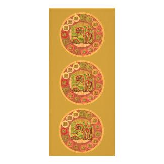 Mantra Om108 de OM 10.16 X 22.86cm Panfleto