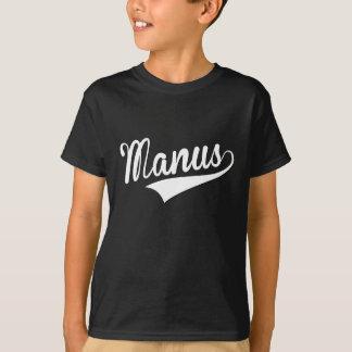 Manus, retro, tshirt