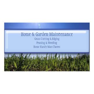 Manutenção de jardinagem de sega do gramado acessí modelos cartoes de visita