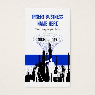Manutenção industrial do serviço da limpeza cartão de visitas
