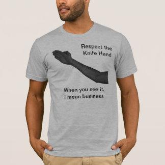 Mão da faca camiseta