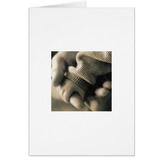 Mão do bebê cartão comemorativo