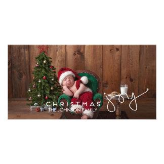 Mão do cartão com fotos | da alegria do Natal Cartão Com Foto