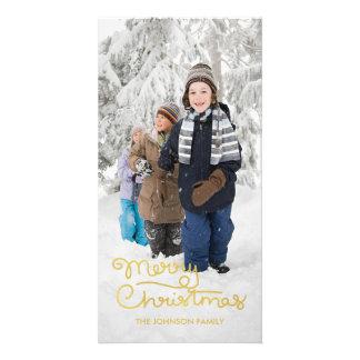 Mão do cartão com fotos | do feriado do Natal Cartão Com Foto