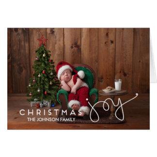 Mão do cartão | da alegria do Natal rotulada