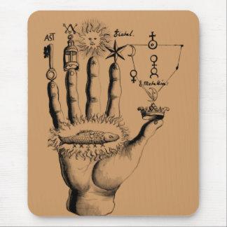 Mão do tempo mouse pad