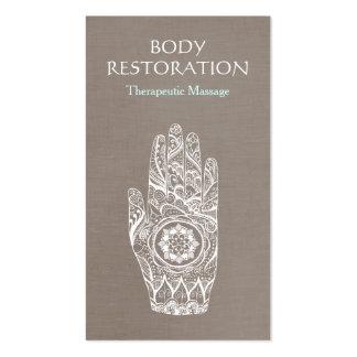 Mão espiritual 3 do tatuagem de Lotus do Henna do Cartão De Visita