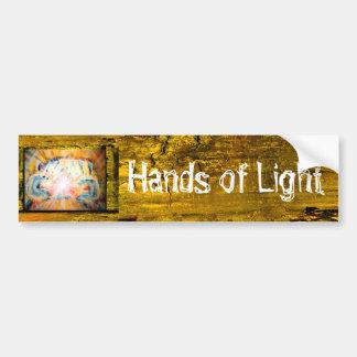 Mãos da luz adesivo para carro