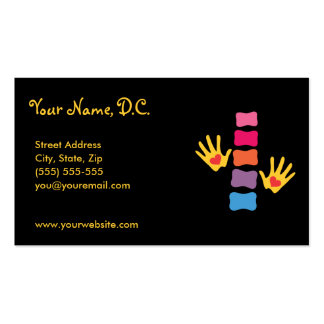 Mãos da quiroterapia & cartões de visitas da espin