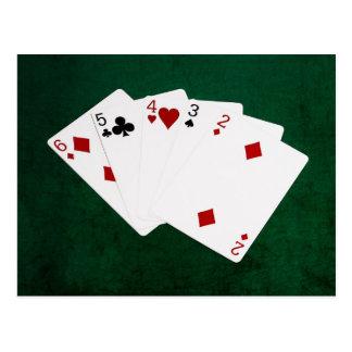 Mãos de póquer - hetero - seis a dois cartão postal