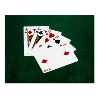 Mãos de póquer - um par - Jack Cartão Postal
