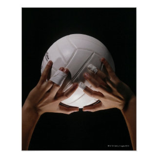 Mãos do voleibol pôster