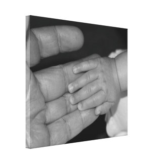 Mãos em preto e branco impressão em canvas