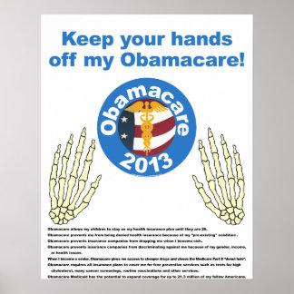 Mãos fora de meu poster de Obamacare