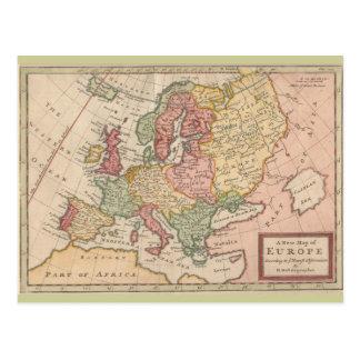 Mapa 1721 histórico de Europa Cartão Postal