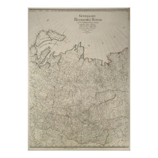 Mapa 1792 do império de russo posters