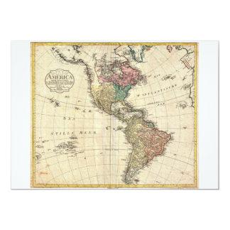 Mapa 1796 de Mannert do norte e da Ámérica do Sul Convite