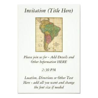 Mapa 1826 de Ámérica do Sul do vintage por Anthony Convite 8.89 X 12.7cm