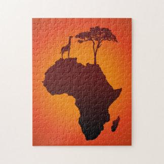 Mapa africano do safari - quebra-cabeça