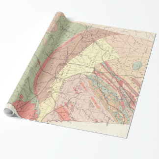 Mapa agrícola do vintage de Alabama (1882) Papel De Presente