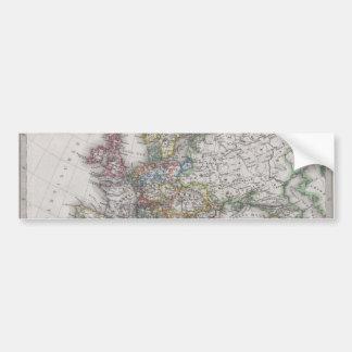 Mapa antigo de Europa cerca de 1862 Adesivo Para Carro