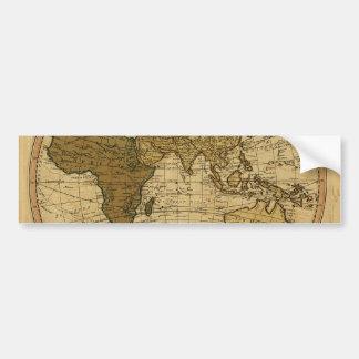 Mapa antigo do hemisfério oriental de William Adesivo Para Carro