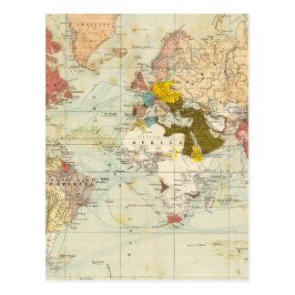 Mapa colonial do atlas de Handels Cartão Postal